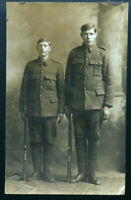 WWI NEWFOUNDLAND PHOTOGRAPHER HOLLOWAY - REGIMENT SOLDIERS REAL PHOTO POSTCARD