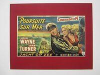 alter Kino Film Druck hinter Passepartouts Der Seefuchs John Wayne 50x40 cm 482