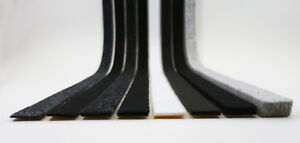 Profi Filzstreifen 80mm breit   Filzband stark selbstklebend   Filz 2-10mm dick