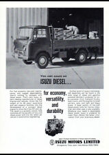 """1963 ISUZU ELF DIESEL TRUCK AD A4 CANVAS PRINT POSTER 11.7""""x8.3"""""""