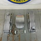 Chevy Bbc 15 Full Finned Ac Engine Dress Up Kit Breathers 454 496 427 V8 Crate