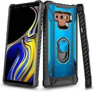 For Samsung Galaxy Note 9 Case Magnetic Metal Ring Stand Defender Phone Cover