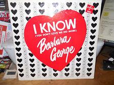 BARBARA GEORGE I KNOW (YOU DON'T LOVE ME NO MORE) USED LP A.F.O.5001 SUE RECORDS