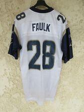 Maillot foot américain US FAULK n°28 SAINT-LOUIS RAMS vintage NFL REEBOK shirt M