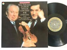 J.S BACH / VIVALDI Concerti For 2 Violins STERN / ZUCKERMAN CBS D37278 NM/NM