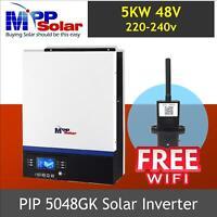 (GK) 5000w 5kva 48v Solar inverter 230v + 80A mppt solar charger + FREE WIFI