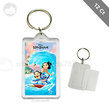 12 Lilo and Stitch Keychain for Kids Birthday Party Favor Gifts Goodie Bag