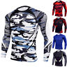 Mens Compression Under Shirt Tops Long Sleeve Gym T Shirts Tights Athletic Tunic