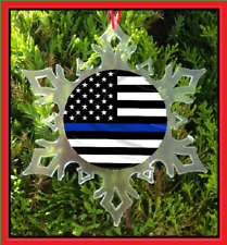 BLUE LIVES MATTER POLICE SUPPORT CHRISTMAS ORNAMENT - X-MAS ORNAMENT