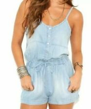 Cloth & Stone Anthropologie Chambray Romper Size Small S Drawstring Waist