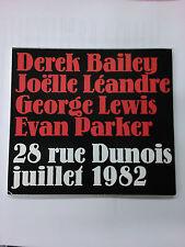 DEREK BAILEY/JOELLE LEANDRE/GEORGE LEWIS/EVAN PARKER  28 rue Dunois juillet 1982