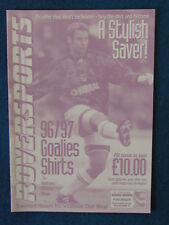 Tranmere Rovers Merchandise Catalogue Price List - 1997/98 - 4 pages