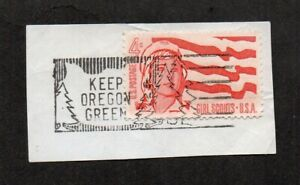 US #1199, Girl Scouts stamp, with pictorial slogan cancel Keep Oregon Green.