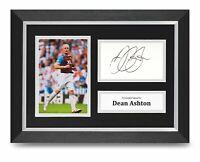 Dean Ashton Signed A4 Framed Photo Display West Ham United Autograph Memorabilia