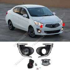 For Mitsubishi Mirage G4 Sedan 2017-2020 Halogen Front Fog Lights Assembly Kit