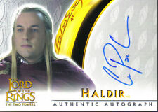 LORD OF THE RINGS TWO TOWERS AUTOGRAPH CARD HALDIR