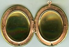 Gorgeous Antique Americana 1950's Brass + Copper Locket Pendant + Copper Chain