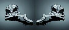 Chrome Crâne Squelette Rétroviseurs Honda, Yamaha, Suzuki, Kawasaki & Harley (91-858)