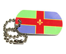 Lincolnshire County Flag Tag - Trackable For Geocaching (Travel Bug Geocoin)