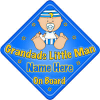 Static Cling Window Car Sign//Decal Sticker Little Man On Board Baby Sunglasses