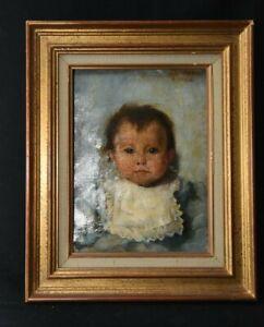 Tableau Portrait d'enfant  XIX e s Ecole française