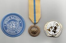 UNITED NATIONS MEDAL FOR IRAQ/KUWAIT   ,UN BERET BADGE AND SLEEVE BADGE
