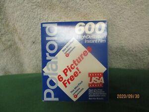 Polaroid 600 Instant Film High Definition Unopened Expired 2-98 6 shot