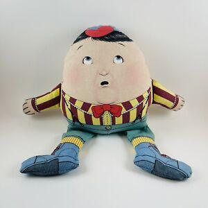 VTG 1983 The Toy Works Stuffed Humpty Dumpty Cloth Doll Nursery Figure Plush Old