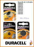 Pilas de botón Duracell 3V litio CR1616