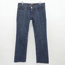7 For All Mankind Bootcut Jeans Womens W32 L33 Blue Stretch Denim