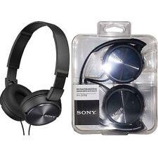 Sony MDR-ZX310AP Foldable Headband Style Stereo Headphones Headset w/Mic (Black)