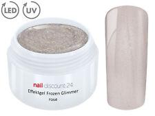 UV LED Effekt Gel FROZEN Glimmer ROSE Farb Color Feiner Glitzer Glitter Rosa Tip
