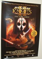 2004 STAR WARS VINTAGE original VIDEO   SO RARE GAMES POSTER LUCASFILM KNIGHTS
