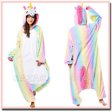 RAINBOW UNICORN SAZAC KIGURUMI Cosplay Adult Halloween Animal Costume Pajama PJs