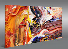 Bild auf Leinwand Farbe Struktur Gemälde-Style Abstrakt 1K Wandbild