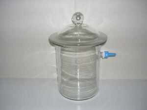 mittelgroßer Exsikkator Vakuum 4 L Labor Glas