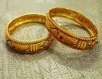 Indian Pakistani Gold Plated Bangles Ethnic Fashion Wedding Bridal CZ Jewellery