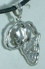 CIONDOLO AFRICA IN ARGENTO 925 STERLING SILVER AFRICA PENDANT