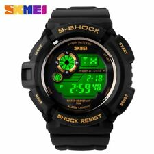 Army Watch Fashion Digital Men Military  Water Resistant LED Sports Watch Green