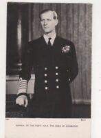 Admiral Of The Fleet The Duke Of Edinburgh Vintage RPPC Postcard Royalty US073