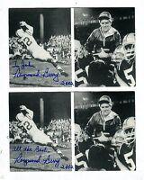 Autographed Signed Raymond Berry Colts Lot Of 2 Photo/Postcard-Sized w/coa jhaut