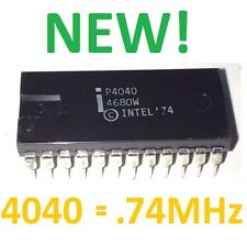 NEW INTEL P4040 CPU PROCESSOR | 4 BIT | 24 PIN DIP | RARE VINTAGE IC MCS-40 NOS!