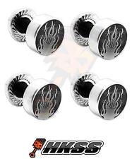 4 Silver Billet Aluminum License Plate Frame Tag Bolts - ROD FLAMES GR 13A