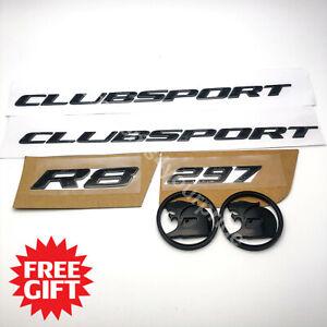 VZ HSV Clubsport Badge Emblem Set with 64mm Bonnet Boot Badges + FREE GIFT