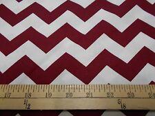 "1 yard  of ""Chevron"" Wide Stripe Burgandy Fabric"