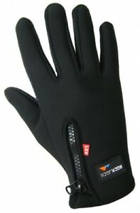Mens Sports Activity Touch-Screen Fleece Insulated Driving Gloves by RockJock™