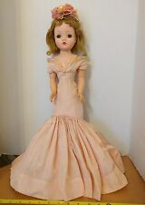 Vintage Madame Alexander Cissy Doll Tagged Pink Gown w/ Shoes & hat 1950's 20""
