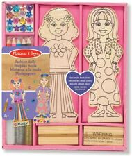 Melissa and Doug Decorate-Your-Own Wooden Fashion Dolls - (BNIB) - 14243