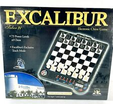 Excalibur Saber IV 4 Electronic Chess Game 73 Power Levels With Teach Mode