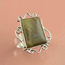925 Sterling Silver Ring Sz US 8, Natural fancy Jasper Gemstone  Jewelry DJ33